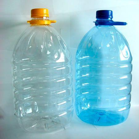 Бутылка ПЭТ 5,0 л круглая,комплект(бутылка, ручка, крышка) (вес 93 гр.)