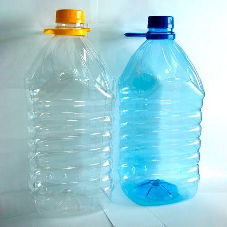 Бутылка ПЭТ 5,0 л квадратная,комплект(бутылка, ручка, крышка) (вес 93 гр.)